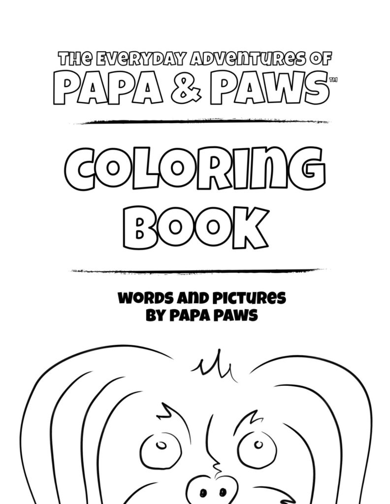 Papa Paws Coloring Book 1 01 Front Cover Thumb
