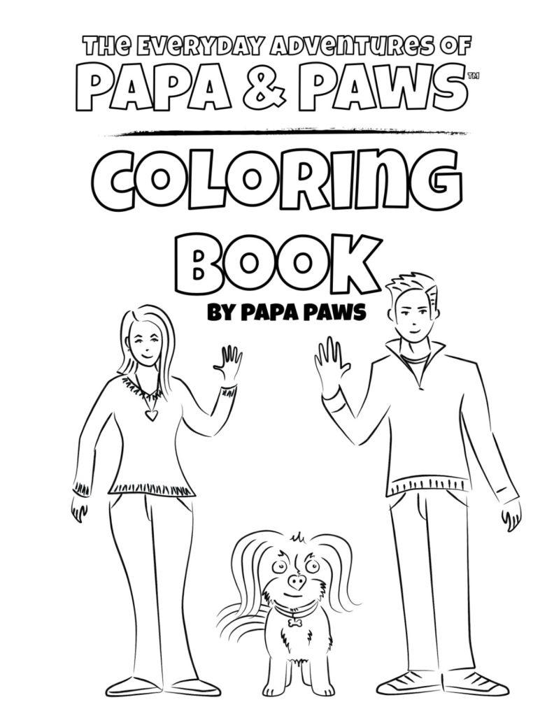 Papa Paws Coloring Book 2 01 Front Cover