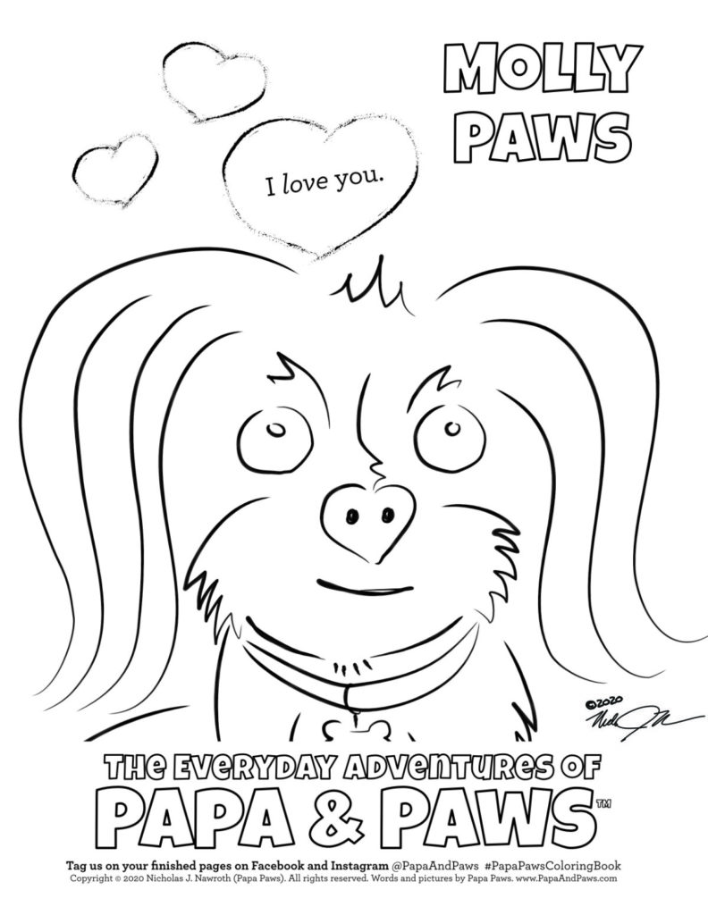 Papa Paws Coloring Page Molly Paws Love