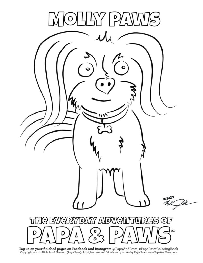 Papa Paws Coloring Page Molly Paws Standing