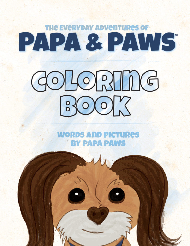Papa Paws Coloring Book Love