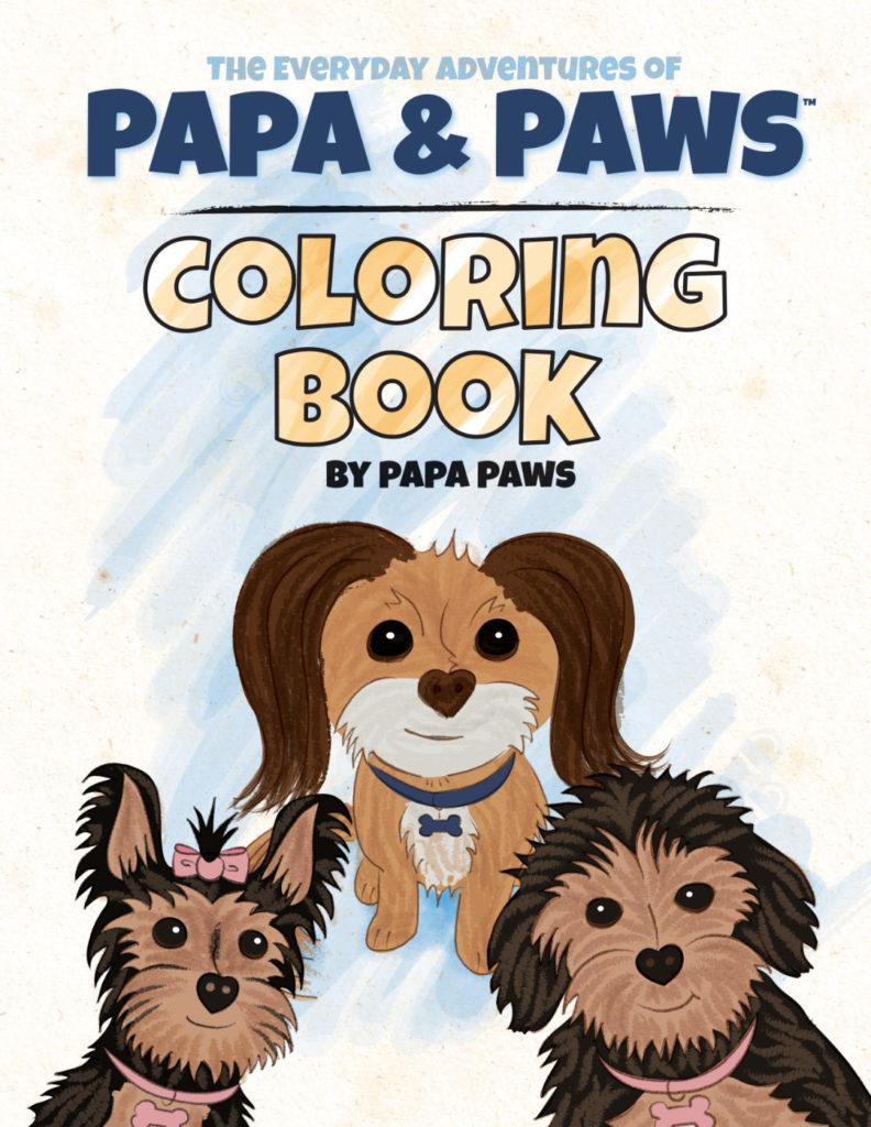 Papa Paws Coloring Book Paws Family