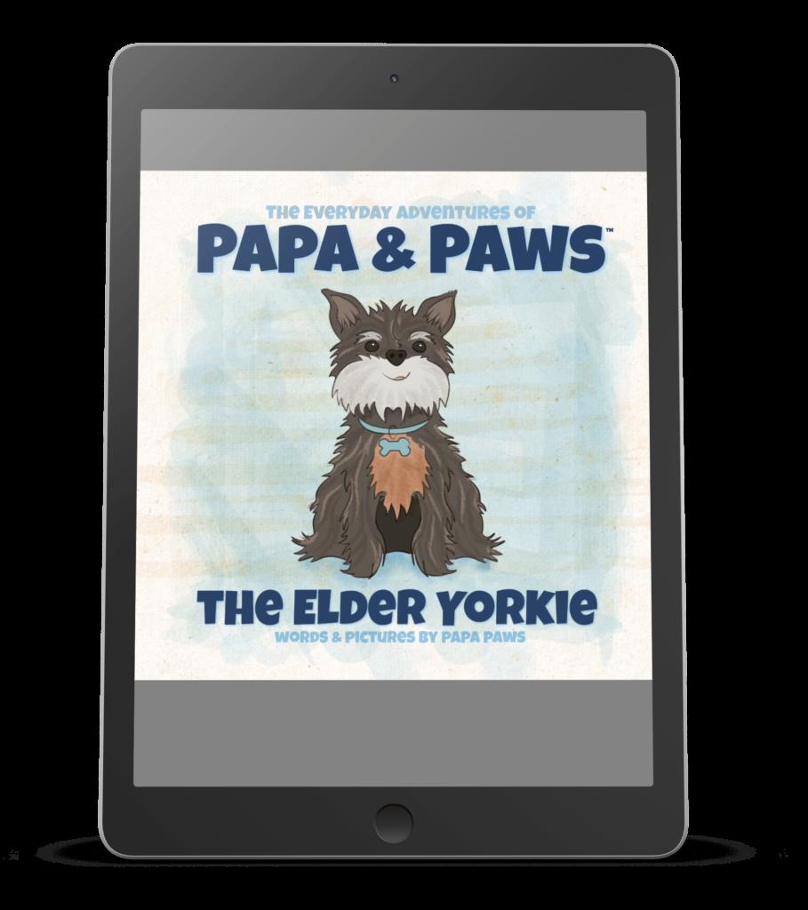 The Elder Yorkie Ereader Mockup