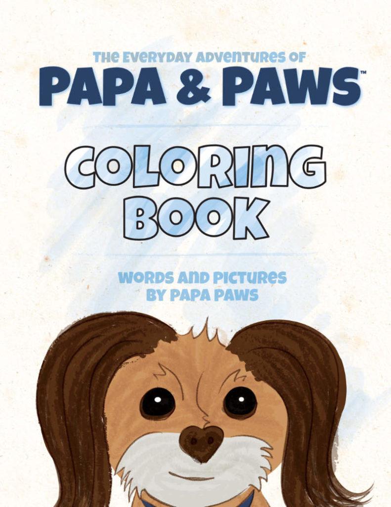 Papa Paws Coloring Book Love THUMB